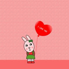 Coniglietta con cuore