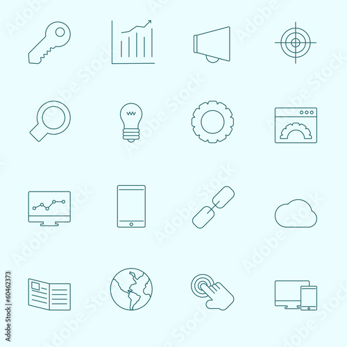 Thin SEO Icons