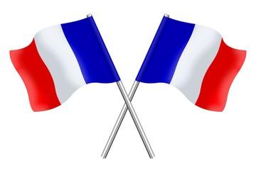 Double drapeaux français