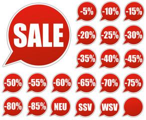 "Rabatt Sticker Kollektion - Price Tags ""Sale"""