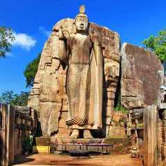 Big statue of Buddha - Awukana , Sri lanka