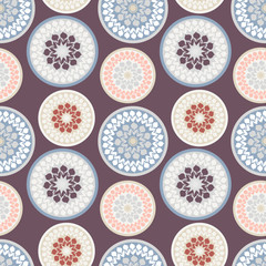 Seamless abstract background, vector pattern, flower fabric