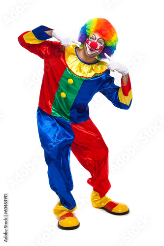 Full length clown