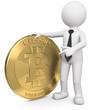 Männchen mit Bitcoin