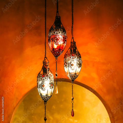 Brass Lantern with Vivid Background