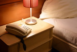 Telefon with Lamp and Bed
