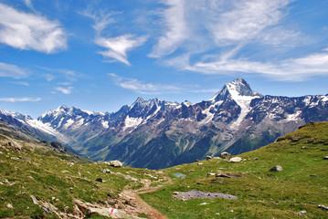 Lötschental mit Bietschhorn im Wallis