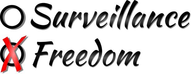 Wahl zwischen Überwachung und Freiheit
