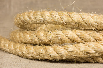 rope from natural fibers rolled rings