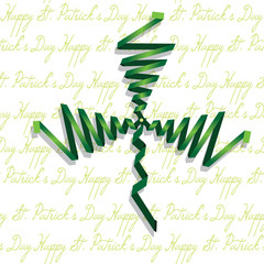 Abstract shamrock with ribbon