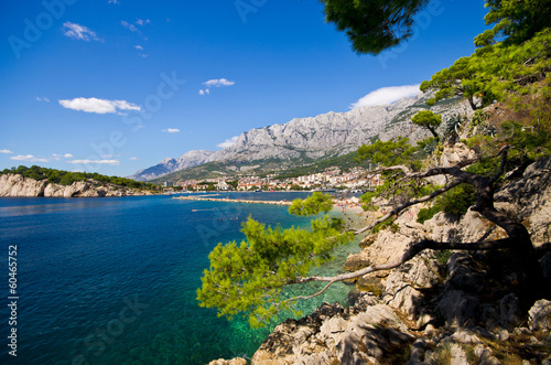 Beautiful bay of Makarska, Croatia
