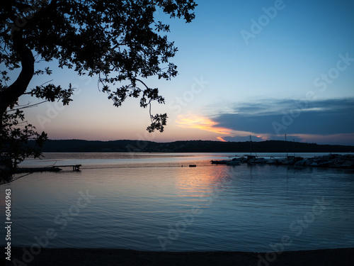 canvas print picture Sunset, Croatia