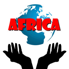 Symbol of African continent and people