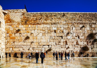 The Western Wall in Jerusalem, Israel