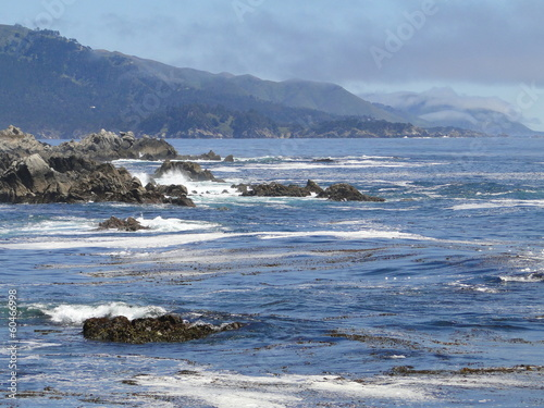 Pebble Beach Waves Coast Line