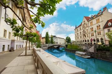 Ljubljana river embankment