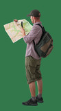 man with map and backpack