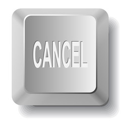 Cancel. Vector computer key.