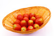 Fresh tomatoes in a basket