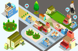 building isometric. infographic element