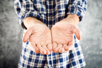 Male Cupped hands
