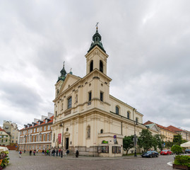 Saint Francis church in Warsaw, Poland