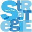 """Mosaïque de Lettres """"STRATEGIE"""" (intelligence succès réussite)"""