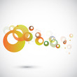 colorful background with circles.