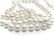 Close up of pearl necklace on white - 60469580