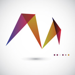 Geometrical abstract vector template