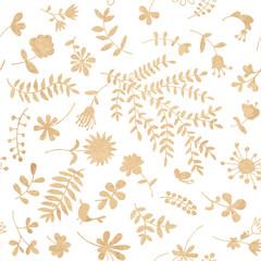Vintage floral seamless pattern for your design