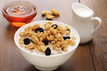 muesli with nuts and honey