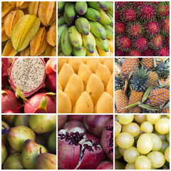 Various Fruits Collage