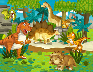 The dinosaur land - illustration for the children
