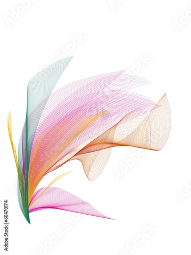 canvas print picture fiore astratto