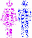 Tag or word cloud World Day of Social Justice related poster