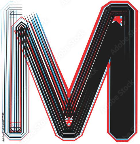 Font illustration letter M