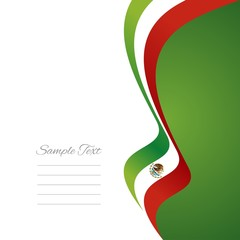 Mexican right flag ribbon vector