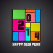 Happy New Year 2014 background - vector illustration