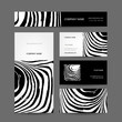 Set of abstract creative business cards, zebra print design
