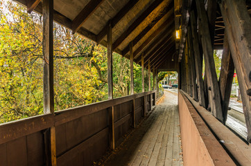 Interior of a Covered Bridge in Vermont