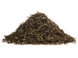 Heap of green tea brew isolated on white