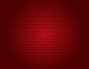 Background-Red with Multiple Hearts