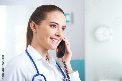 Doctor at phone