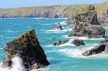 Redcove Island and Bedruthan Steps
