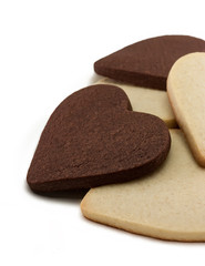 Black and white heart shaped cookies