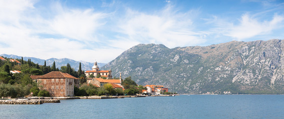 Place of Prcanj in Kotor bay Montenegro