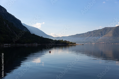 Kotor bay in the morning