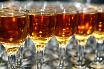 glasses of brandy
