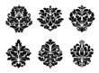 Six different floral arabesque designs